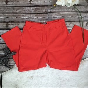VTG Crossing Pointe Neon Red High Rise Ankle Pant
